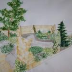 Ogród na dziedzińcu