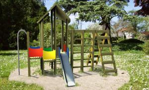Wizualizacja zestaw średni na plac zabaw