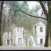 Wizualizacja miejsca wypoczynku w lesie