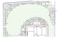 Fragment projektu ogrodu pod Poznaniem
