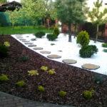 Ogród Środa Wlkp. kamień i kora