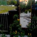 Ogród Środa Wlkp. lustro w ogrodzie